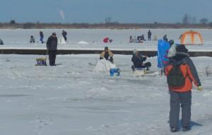 八郎湖のワカサギ釣り 2013.01.24