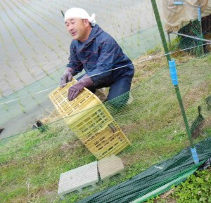 「山形県の鴨屋さん」カモを届けに来てくれました。 2017.6.15撮影